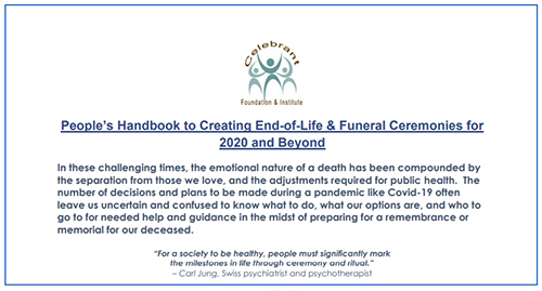 Free End-of-Life & Funeral Ceremonies Handbook